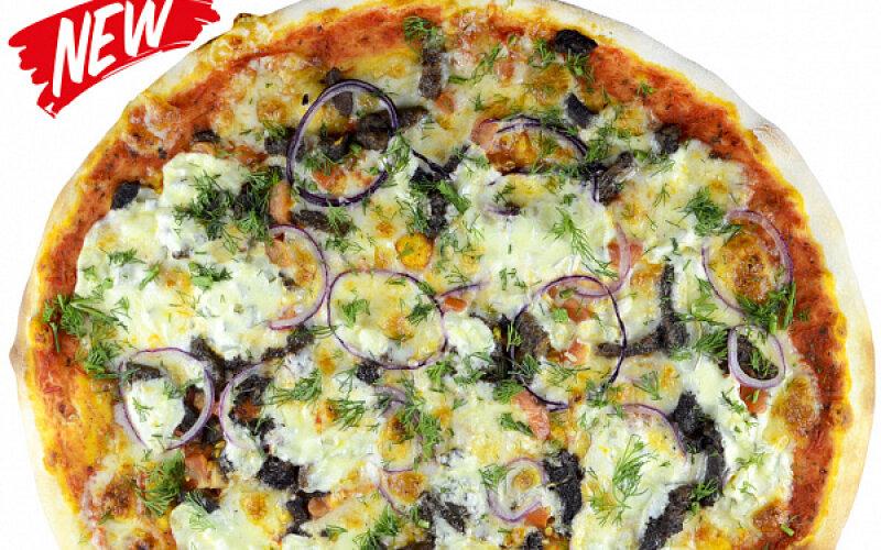 Пицца с говядиной и соусом «Тартар»