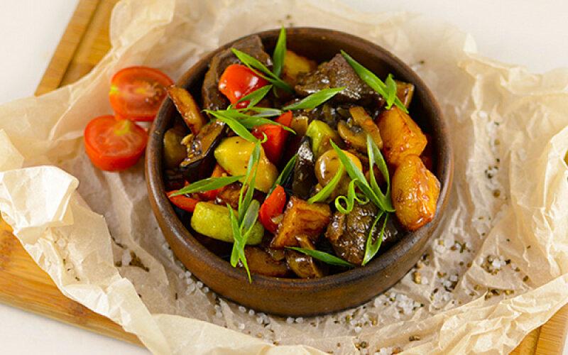 Жаркое из говядиной с овощами