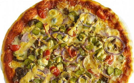 Пицца с беконом и говядинойXXL