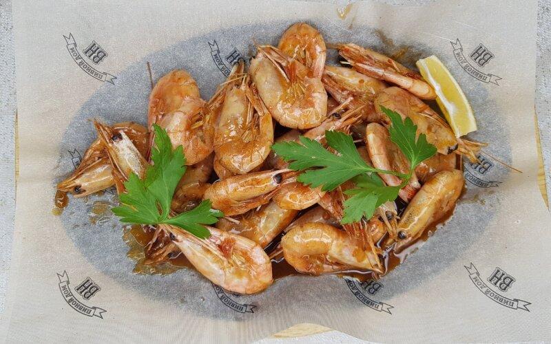 Магаданские креветки в соусе