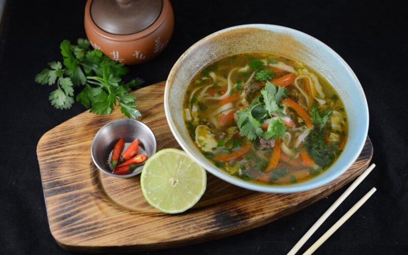 Суп фобо с зеленью