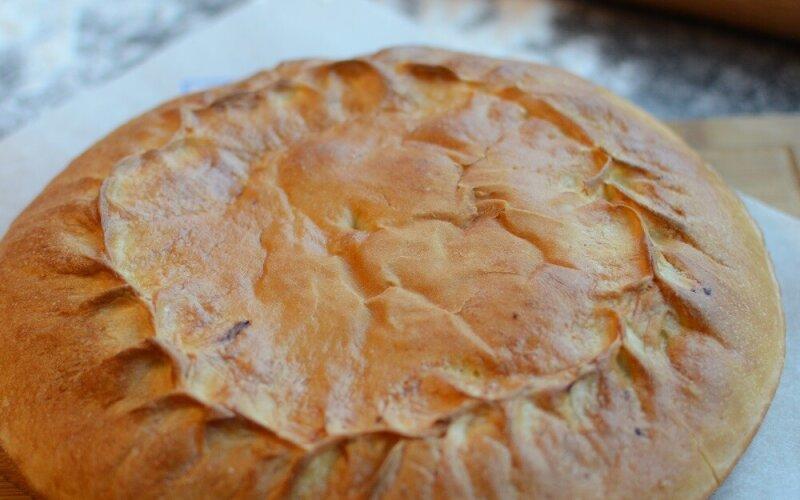 Пирог с мясом и капустой (говядина)