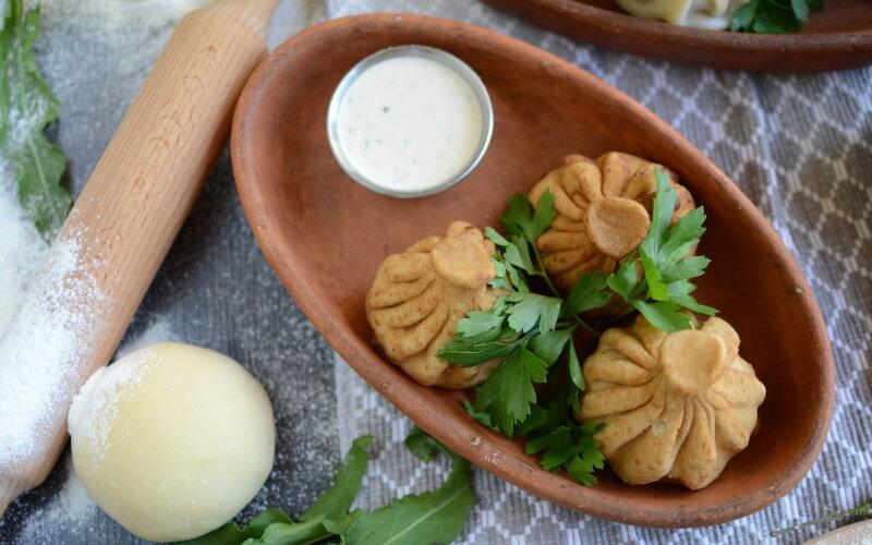 Хинкали  жареные с сыром